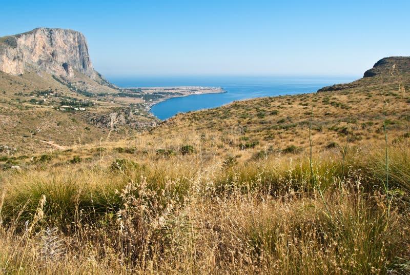Golfo di San Vito Lo Capo in Sicilia fotografie stock