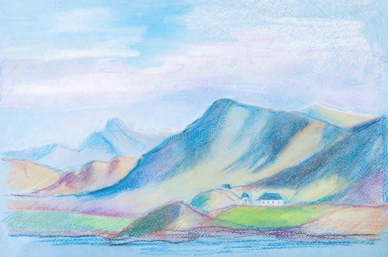 Golfo en Islandia stock de ilustración