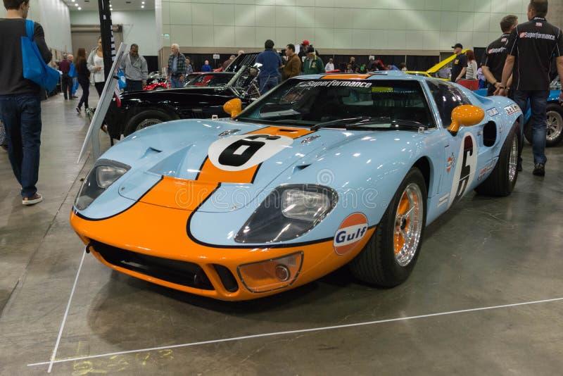Golfo Ford que compite con GT40 imagenes de archivo