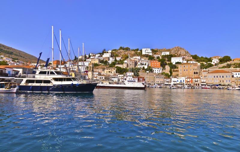 Golfo Grecia di Saronic dell'isola della hydra fotografia stock