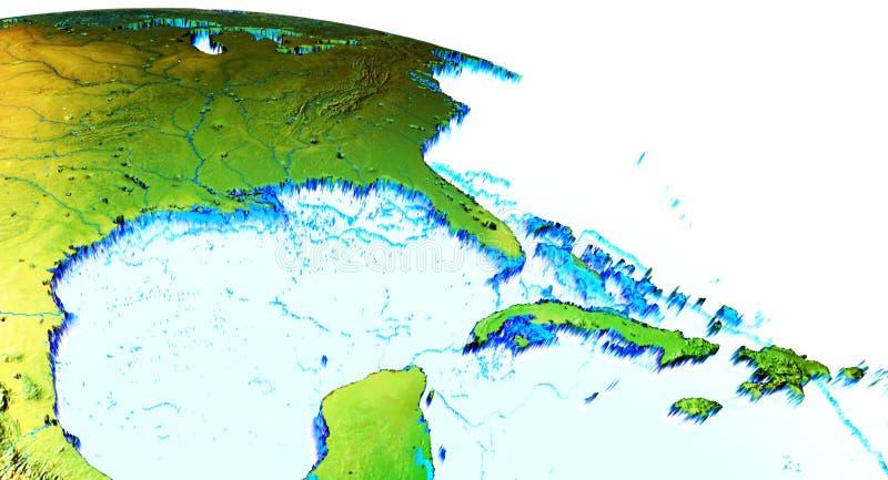 Golfo México de la tierra ilustración del vector