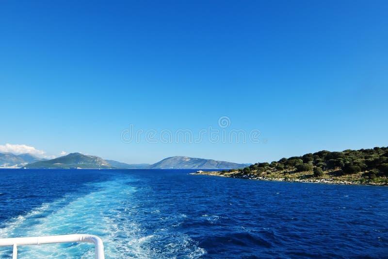 Golfo no Mar Egeu em Grécia imagem de stock royalty free