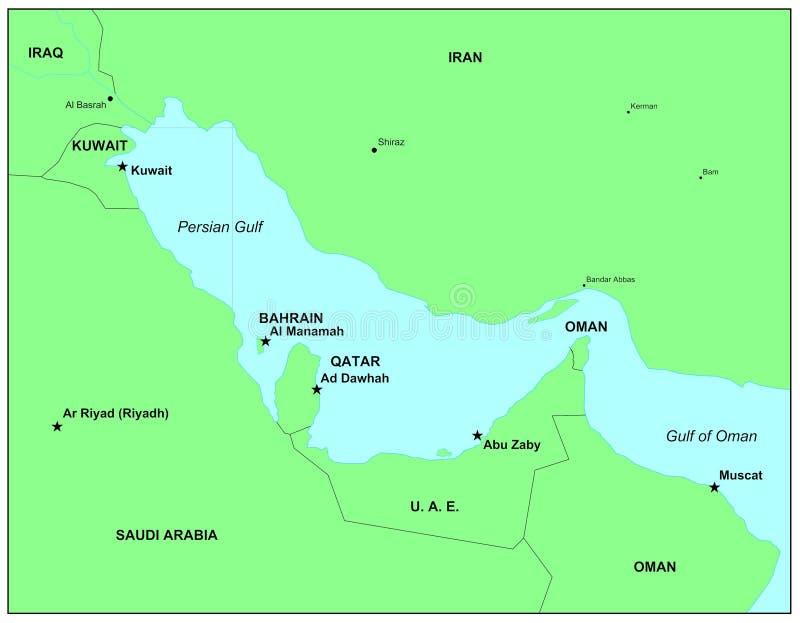 Golfo Pérsico stock de ilustración