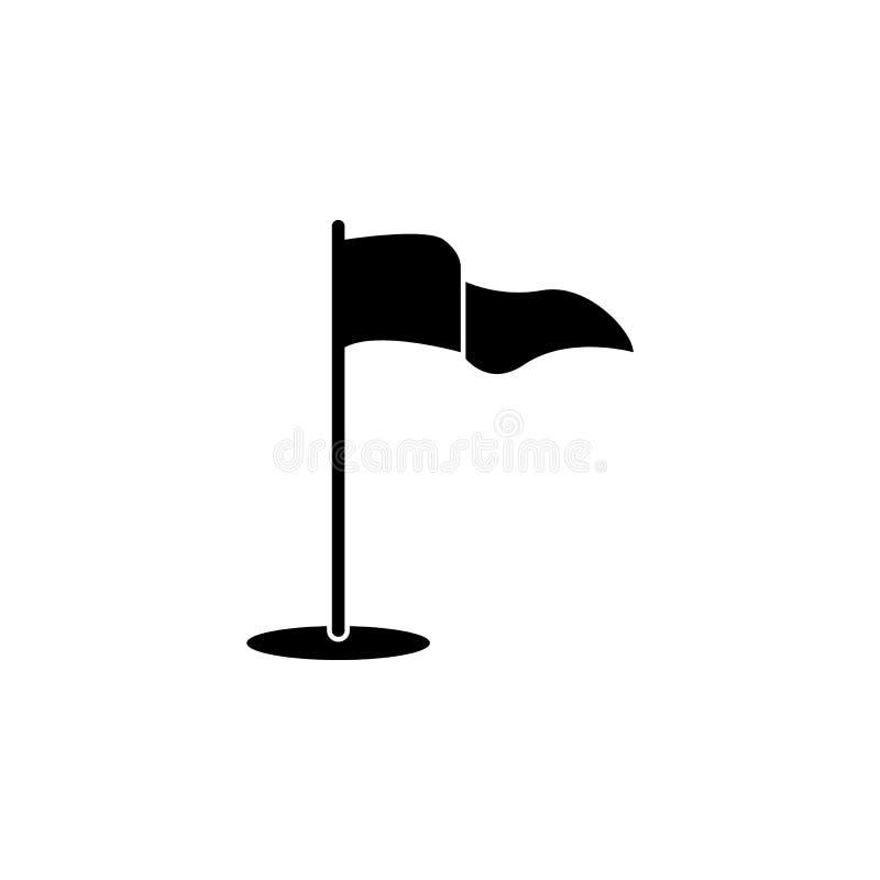 Golfowa chorągwiana ikona Element prosta ikona dla stron internetowych, sieć projekt, wisząca ozdoba app, ewidencyjne grafika Zna ilustracja wektor