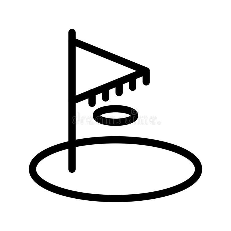 Golfowa chorągwianej linii wektoru ikona royalty ilustracja