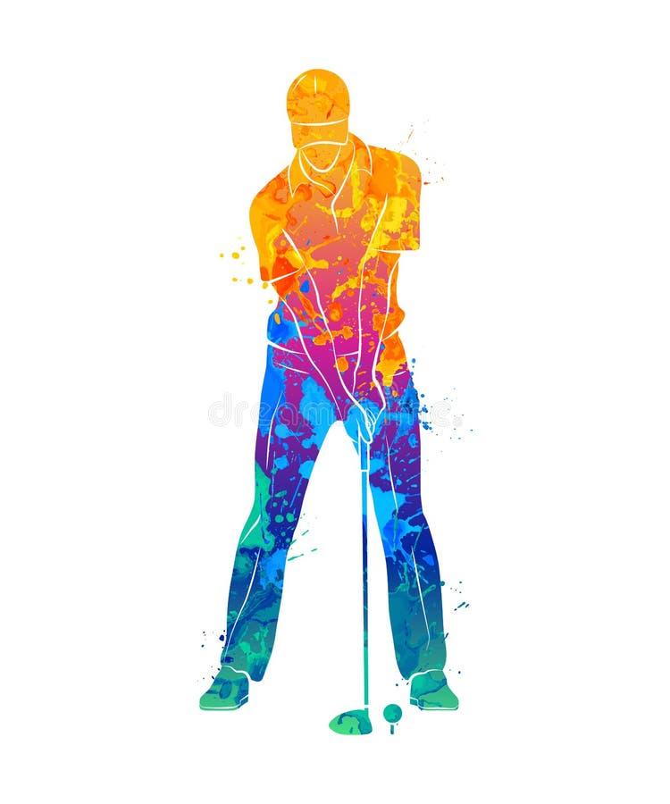 Golfowa sport sylwetka royalty ilustracja