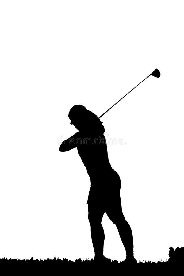 golfowa sylwetki zamach ilustracja wektor