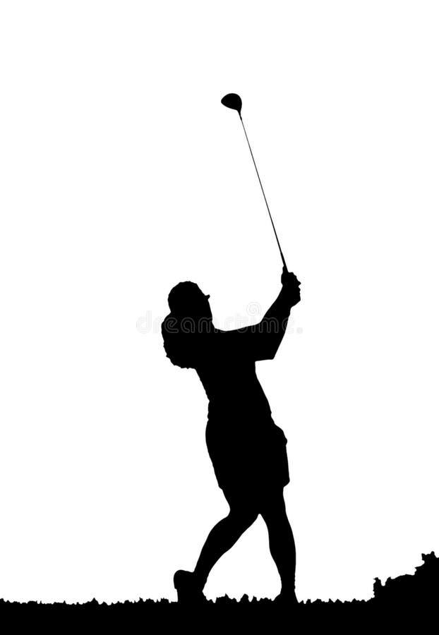golfowa sylwetki zamach royalty ilustracja