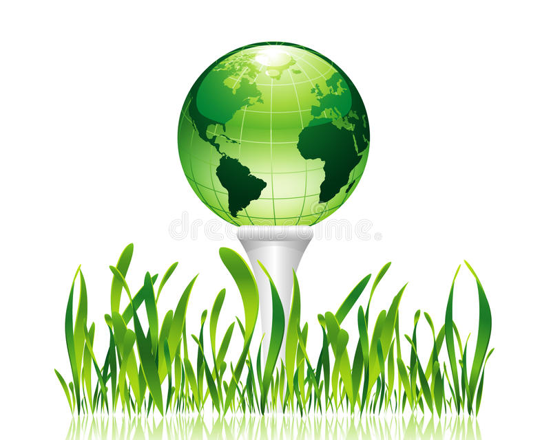 golfowa zieleń ilustracja wektor