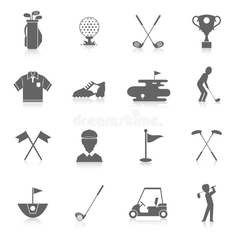 Golfowe ikony ustawiać royalty ilustracja
