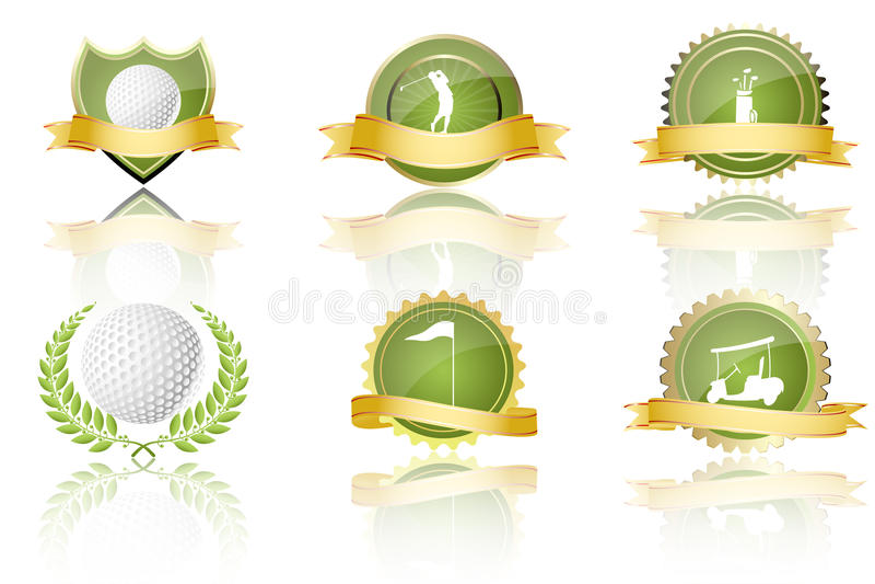 golfowe nagrody ilustracja wektor