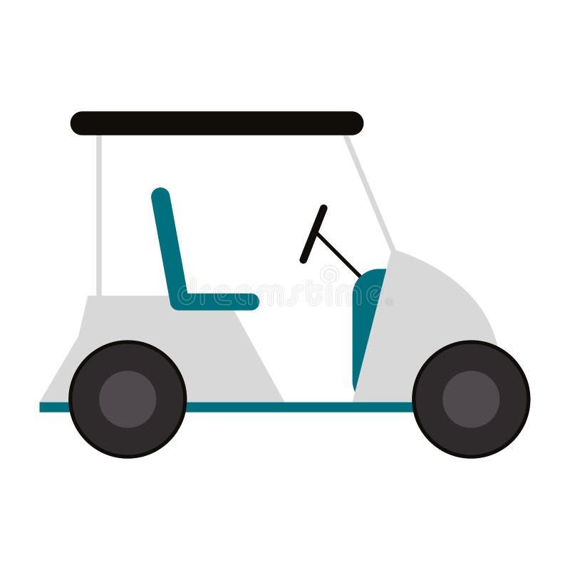 Golfowej fury pojazd odizolowywający royalty ilustracja