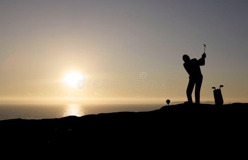 golfowy bawić się mężczyzna zdjęcie stock