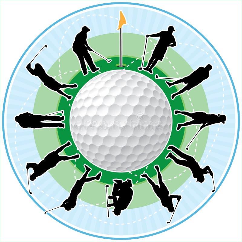 golfowy czas ilustracji