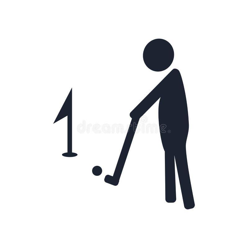 Golfowy ikona wektoru znak i symbol odizolowywający na białym tle, G royalty ilustracja
