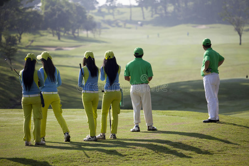golfowy Jakarta krajowy turnieju uniwersytet zdjęcie stock