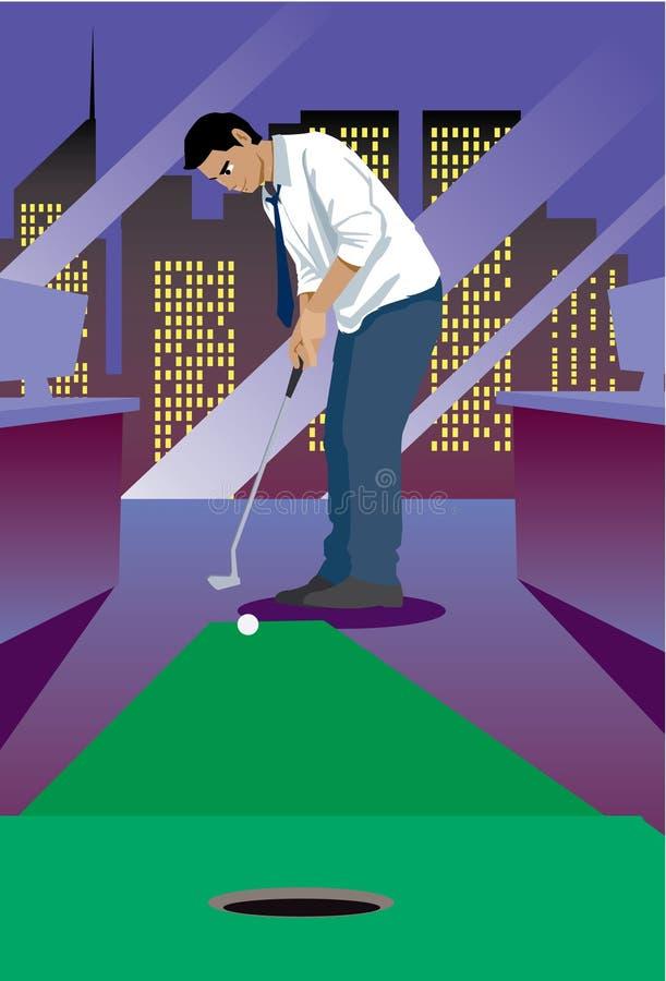golfowy miniaturowy biuro relaksuje ilustracji