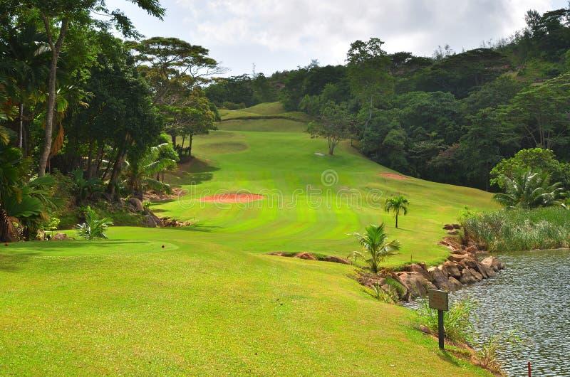 Golfowy pole, Seychelles obrazy royalty free