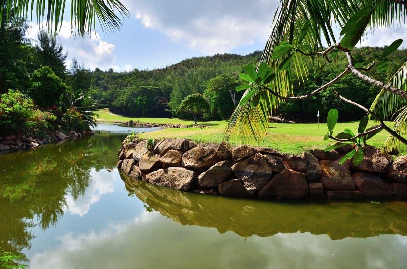 Golfowy pole, Seychelles zdjęcie royalty free