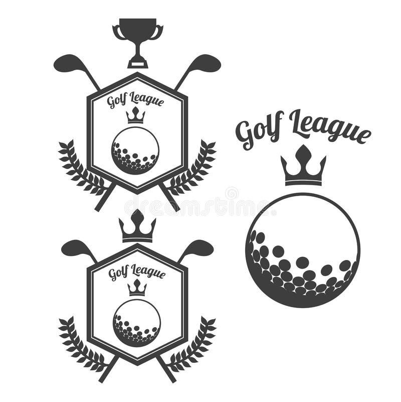 Golfowy projekt royalty ilustracja