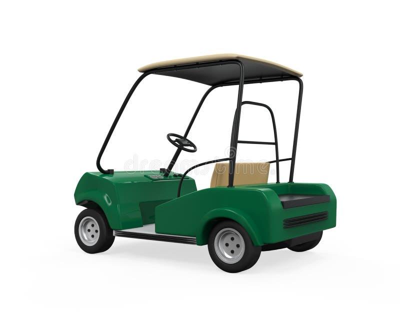 Golfowy samochód Odizolowywający ilustracja wektor