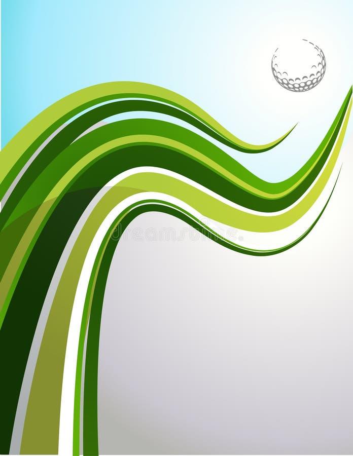 Golfowy tło ilustracja wektor