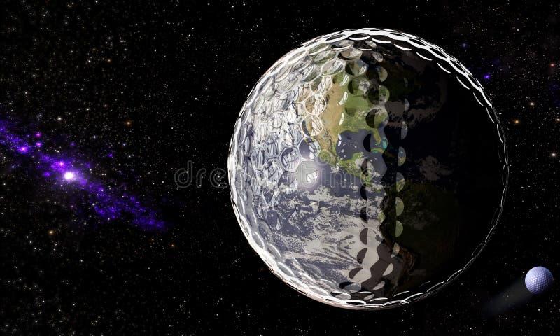 golfowy wszechświat ilustracja wektor