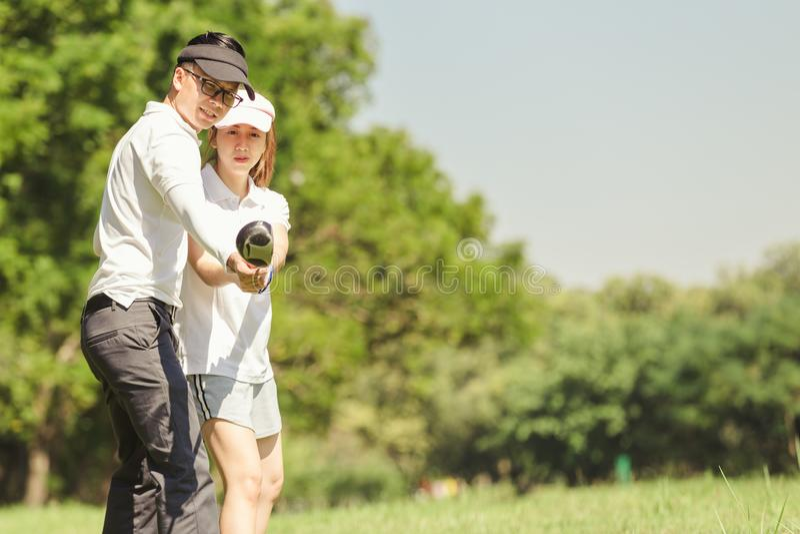 Golfpaar royalty-vrije stock afbeelding