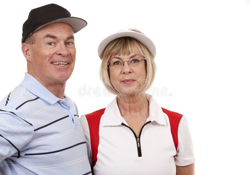 Golfpaare lizenzfreie stockfotos