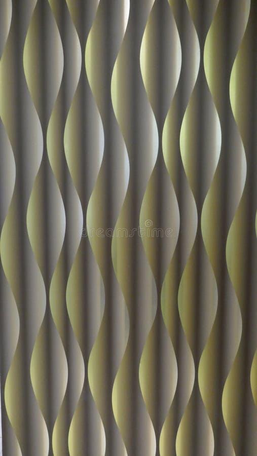 Golfpatroon, spiraalvormig patroon Samenvatting Moderne futuristische achtergrond, olijfgroen, met licht en schaduweffect royalty-vrije stock afbeelding