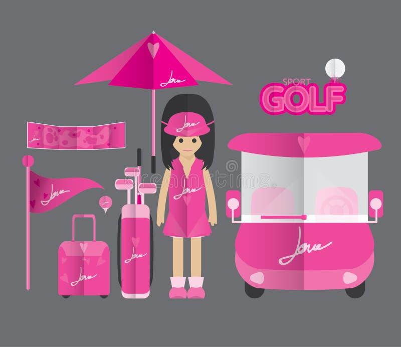 Golfpictogram royalty-vrije illustratie