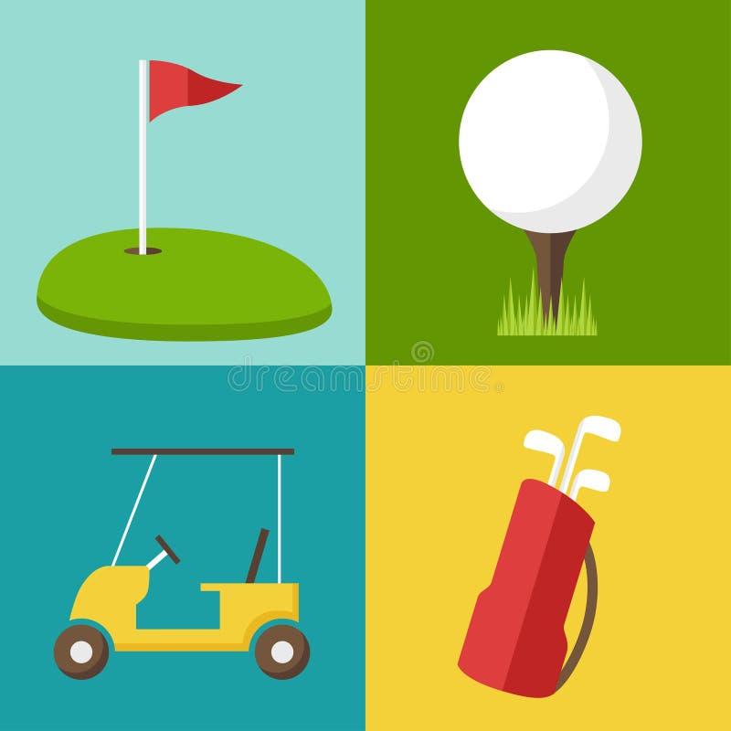 Golfpictogrammen vector illustratie