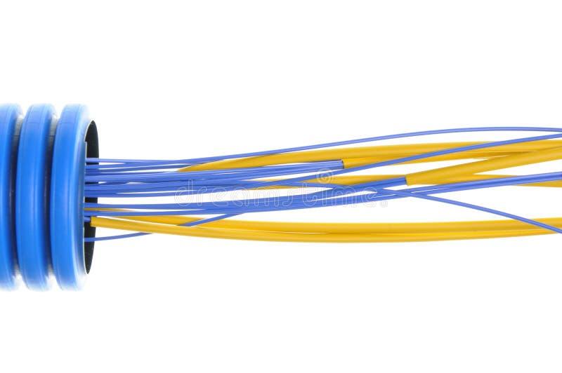 Golfpijp met geïsoleerde kabels royalty-vrije stock foto's