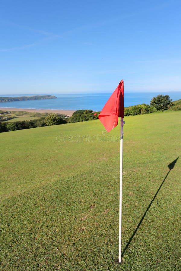Golfplatz über woolacombe stockfoto