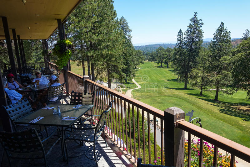 Golfplatz-Ansicht vom Kalifornien-Countryklub stockbilder