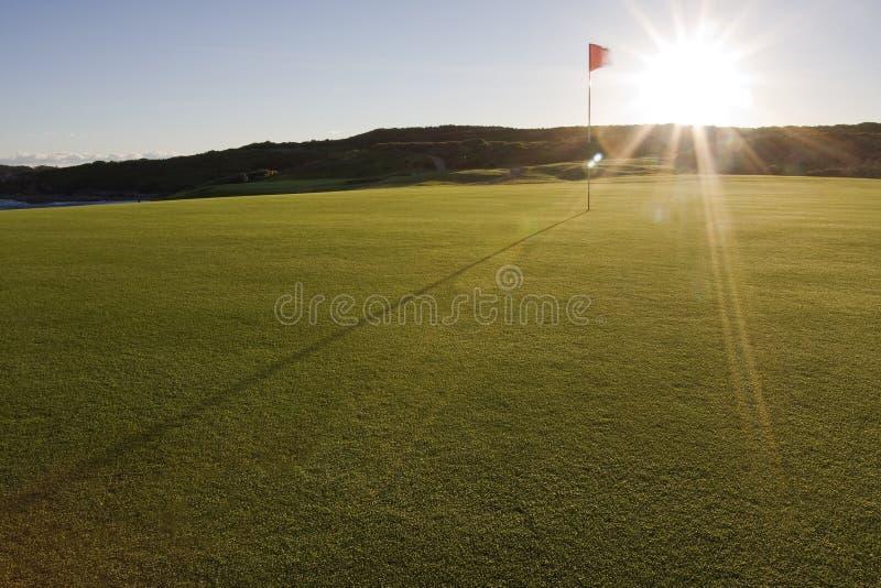 Golfplatz-Grün im Botanik-Schacht-Nationalpark lizenzfreie stockfotografie