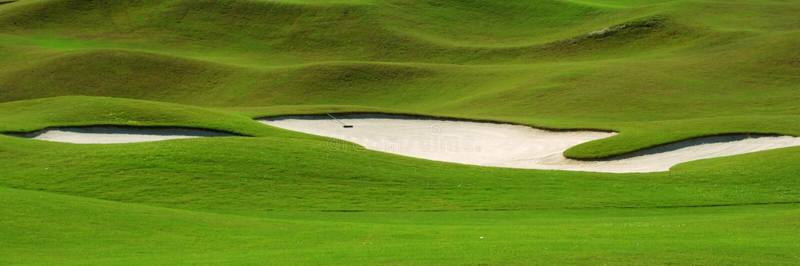 Golfplatz-Sandfang lizenzfreie stockfotografie