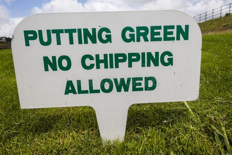 Golfplatz-Zeichen Stockbilder