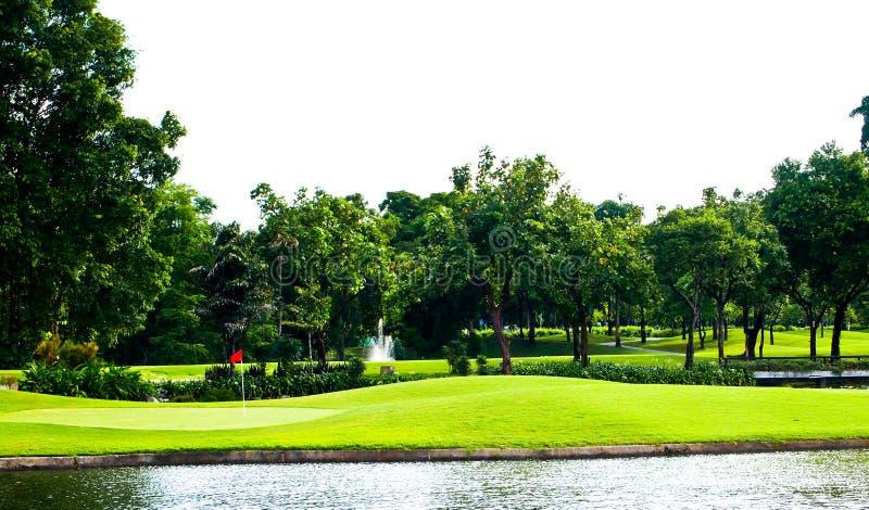Golfplatzansicht Stockbild