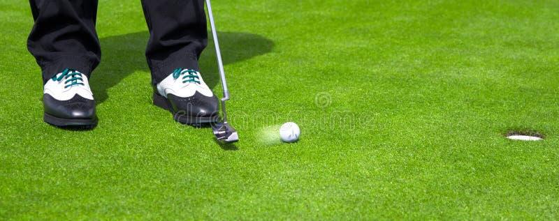 Golfput royalty-vrije stock fotografie