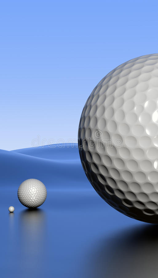 Download Golfscape with alpha stock illustration. Image of portrait - 12527706