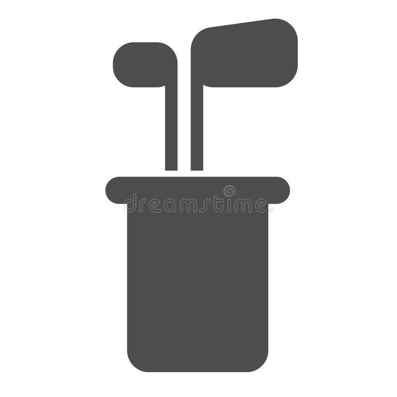 Golfschläger Weiß isolierte Vektorgrafik von Golfausrüstung Golfschläger-Design, entworfen für stock abbildung