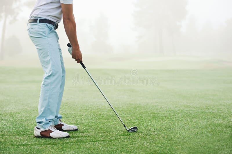 Golfschussmann lizenzfreies stockfoto