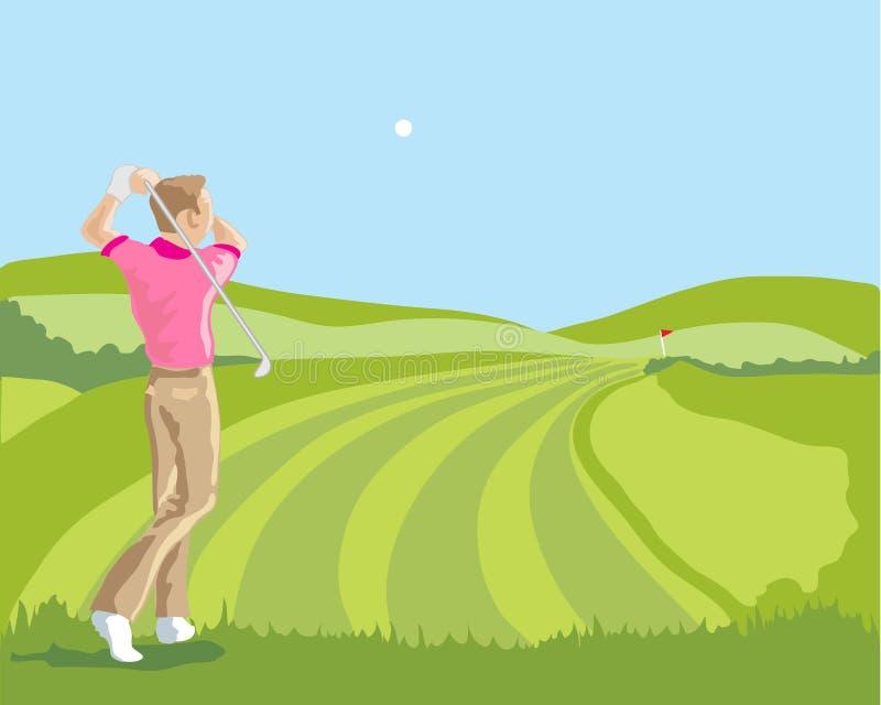 Golfschwingen vektor abbildung