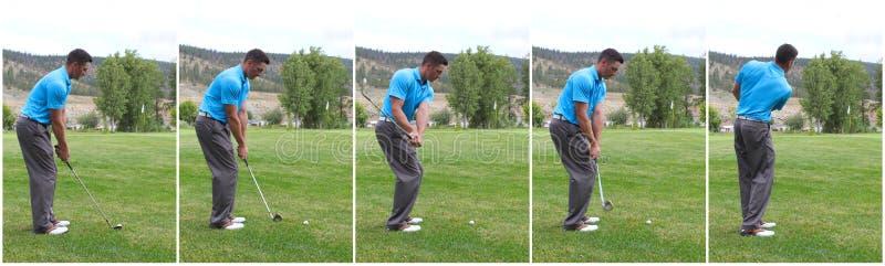 Golfschwingen kombiniert lizenzfreie stockbilder