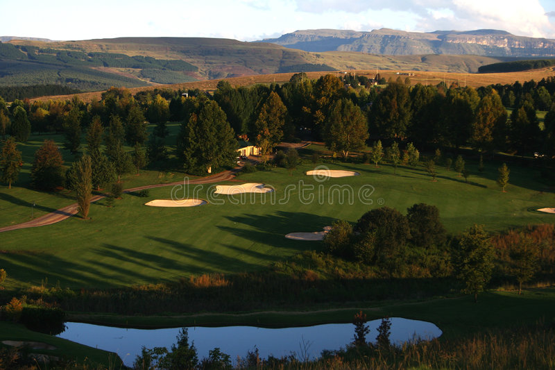 golfsemesterort royaltyfri bild