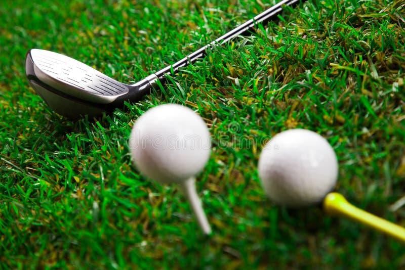 Golfslagträ Och Bollar Fotografering för Bildbyråer