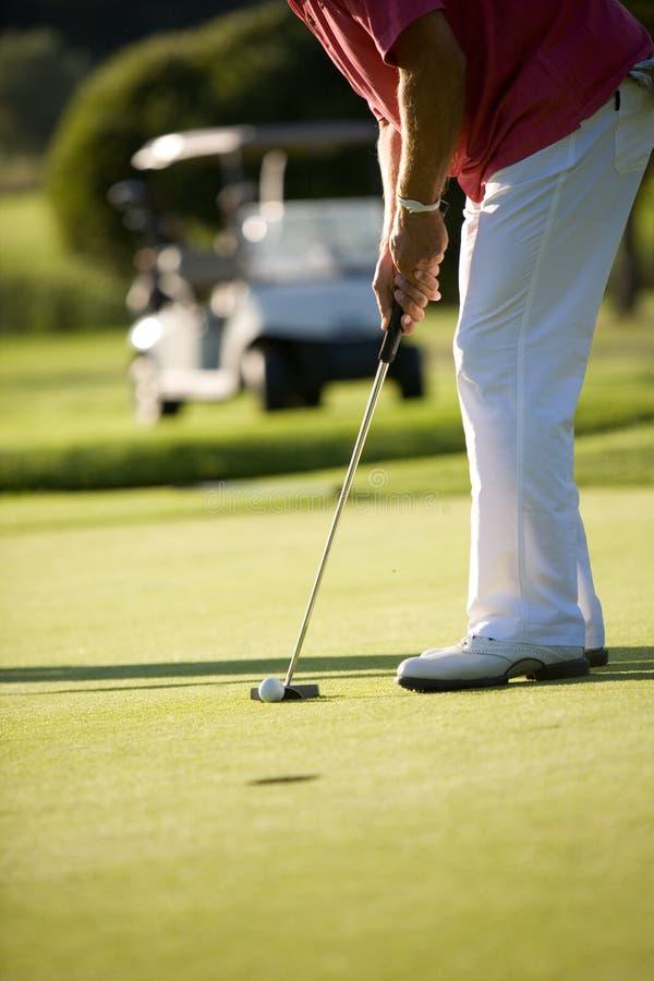 golfspel arkivbilder