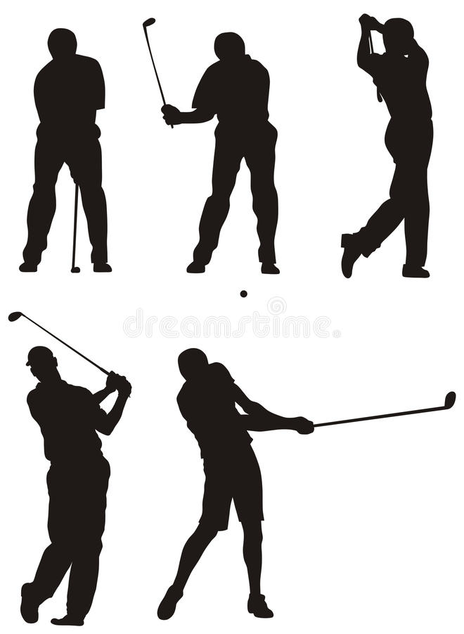 golfspelare royaltyfri illustrationer