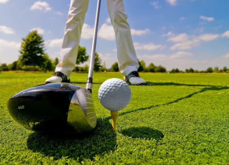 golfspelare arkivfoto
